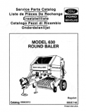 New Holland 630 Round Baler - Parts Catalog