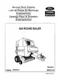 New Holland 650 Round Baler - Parts Catalog