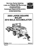 New Holland 2000 and 2010 Hay Baler - Parts Catalog