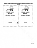 New Holland 634, 644, 654 and 664 Round Baler - COMPLETE Service Manual