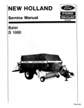 New Holland D1000 Round Baler - Service Manual