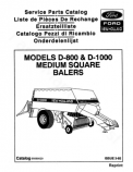 New Holland D1000 and D800 Round Hay Baler - Parts Catalog