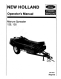 New Holland 125 and 135 Manure Spreader Manual