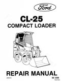Ford CL-25 Skid-Steer - Service Manual