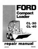 Ford CL-30 and CL-40 Skid-Steer - Service Manual