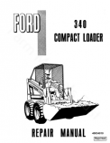 Ford 340 Compact Loader - Service Manual