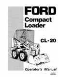 Ford CL-20 Compact Loader Manual