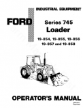 Ford 745 Series (19-854,19-855,19-856,19-857) Loader Manual