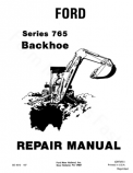 Ford 765 Backhoe - Service Manual