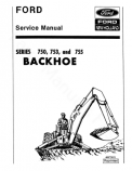 Ford 750, 753 and 755 Backhoe - Service Manual