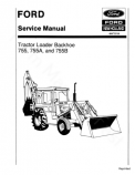 Ford 755, 755A and 755B Tractor-Loader-Backhoe - Service Manual