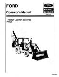 Ford 755B Tractor-Loader-Backhoe Manual