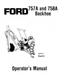 Ford 757A and 758A Backhoe Manual