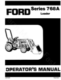 Ford 1000 and 768A Loader Manual