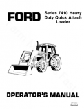 Ford 7410 Loader Manual