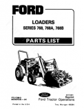Ford 768 and 768A Loader - Parts Catalog