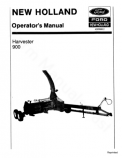 New Holland 900 Harvester Manual