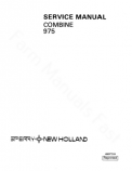 New Holland 975 Combine - Service Manual