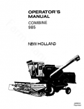 New Holland 985 Combine Manual
