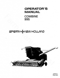 New Holland 995 Combine Manual