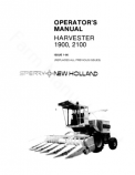 New Holland 1900 and  2100 Harvesters Manual