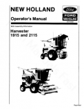 New Holland 1915 and 2115 Harvester Manual