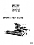 New Holland TR75 and TR85 Combine - Service Manual