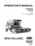 New Holland TR86 Combine Manual
