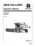 New Holland TR97 Combine Manual