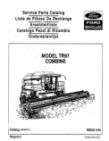 New Holland TR97 Combine - Parts Catalog