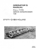 New Holland 109 Windrower Manual
