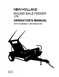 New Holland 175 Round Bale Feeder Manual