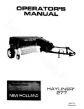 New Holland 277 Hayliner Manual