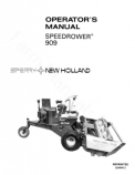 New Holland 909 Speedrower Manual