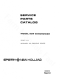 New Holland 909 Windrower - Parts Catalog