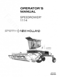 New Holland 1114 Speedrower Manual