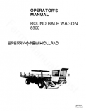 New Holland 8500 Round Bale Wagon Manual