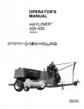 New Holland 425 and 430 Hayliner Manual