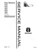New Holland 442, 452, 462, 463 and 465 Disc Mower - Service Manual