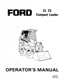 Ford CL-25 Skid-Steer Manual