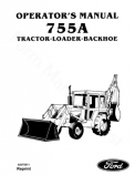 Ford 755A Tractor-Loader-Backhoe Manual