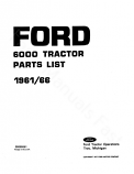 Ford 6000 Tractor - Parts Catalog