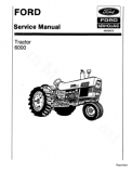 Ford 6000 Tractor - Service Manual