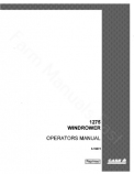 Case IH 1275 Windrower Manual