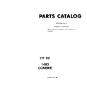 International 1480 Combine - Parts Catalog
