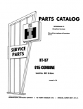 International 815 and 915 Combine - Parts Catalog