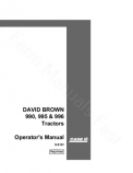 David Brown 990, 995 and 996 Tractor Manual