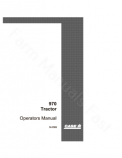 Case 970 Tractor Manual