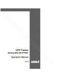 Case 1270 Tractor Manual