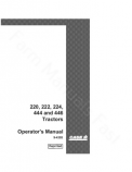 Case 220, 222, 224, 444 and 446 Tractor Manual